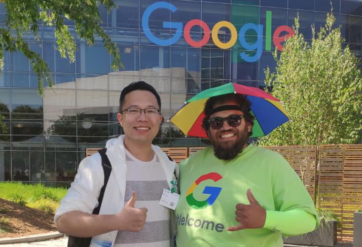 陈哲乾在Google总部参加Google开发者大会