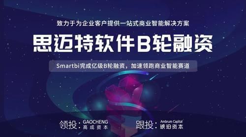 """提供商业智能解决方案 """"Smartbi""""获亿级B轮融资"""
