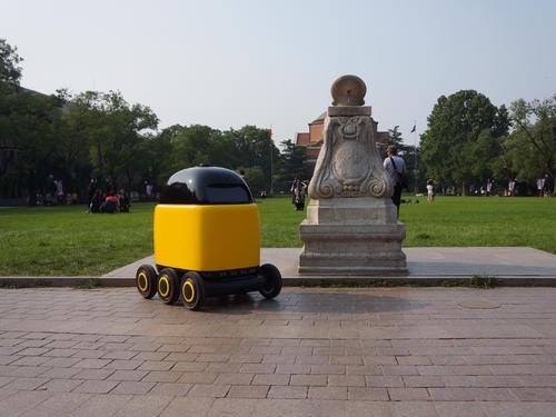 比京东菜鸟还早的无人配送机器人:创始人系爱因斯坦校友 获黑马基金投资