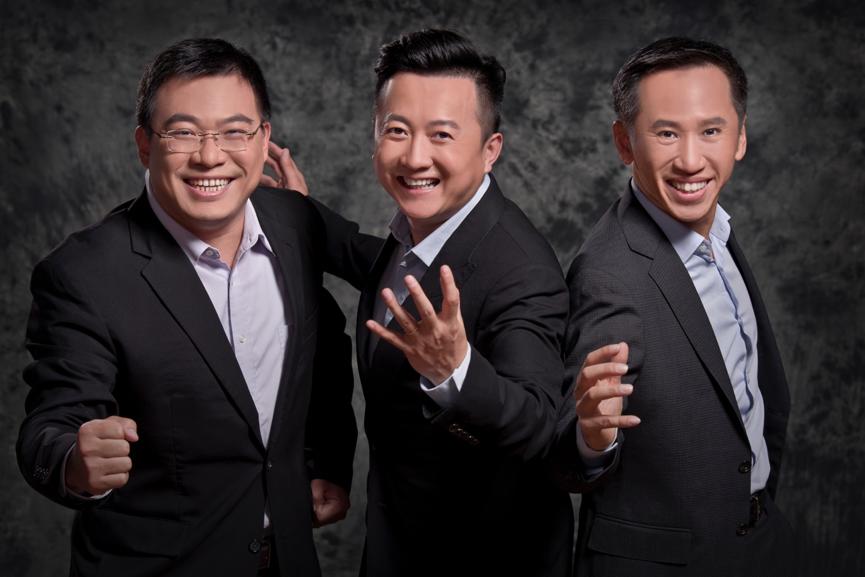 沸点资本创始合伙人:姚亚平(左)、于光东(中)、徐鸿川(右)。