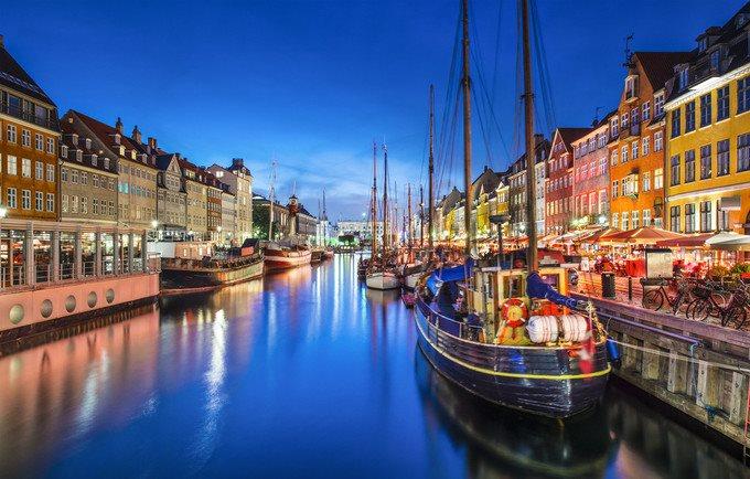 哥本哈根河岸的风景