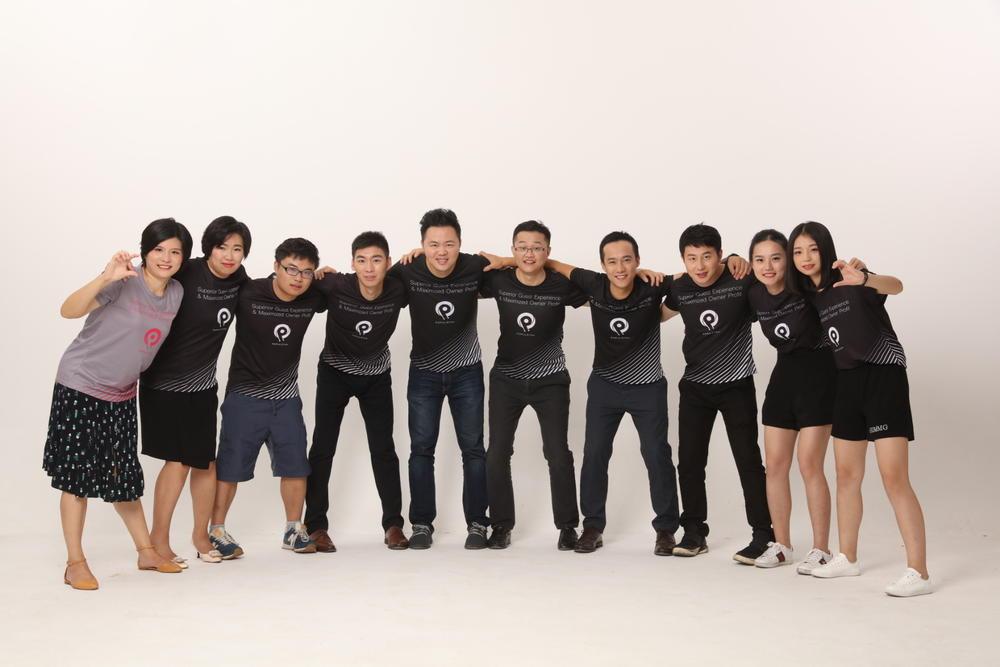 PopulStay团队成员由来自新加坡,中国,日本,印度,外蒙古,德国的不同员工组成。