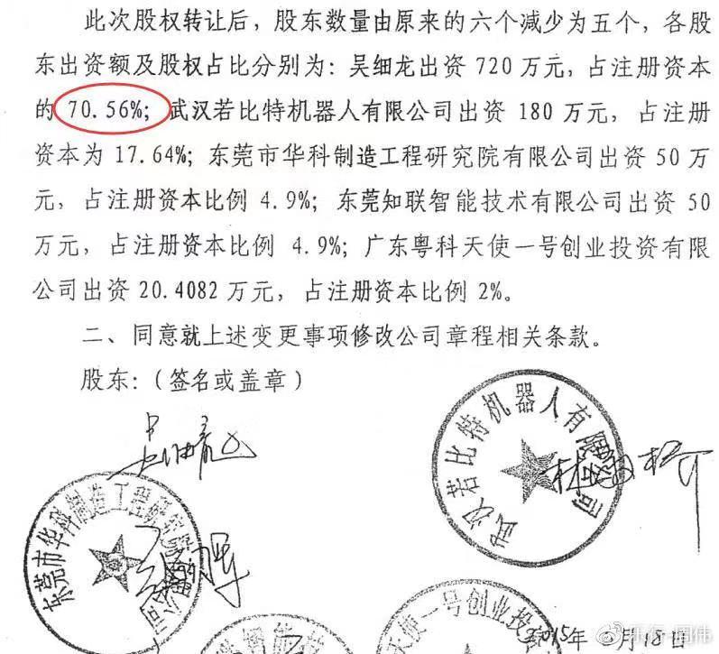 周伟表示,吴细龙不断挤走他人,扩大自己的股权。