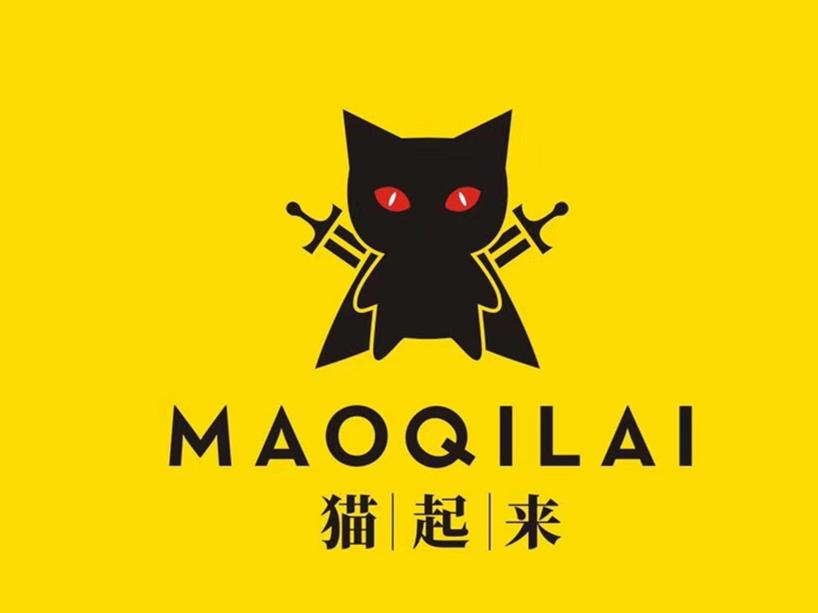 """一只红眼披风背着两把剑杀气腾腾的黑猫,称之为""""剑客靴猫""""。"""