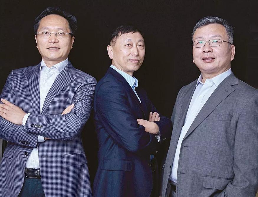 """""""复诺健""""联合创始人兼CEO黄鸿伟,联合创始人兼首席科学家贾为国博士、国内拥有完整溶瘤病毒临床转化经验的赵荣华博士"""
