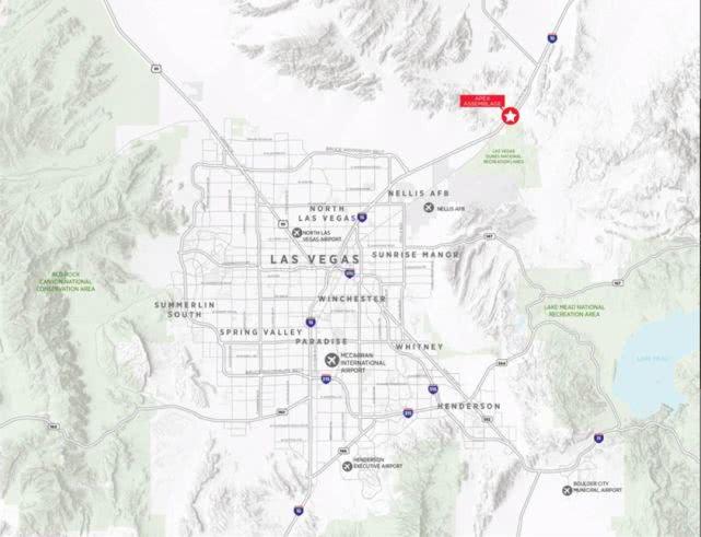 FF北拉斯维加斯地块地理位置图