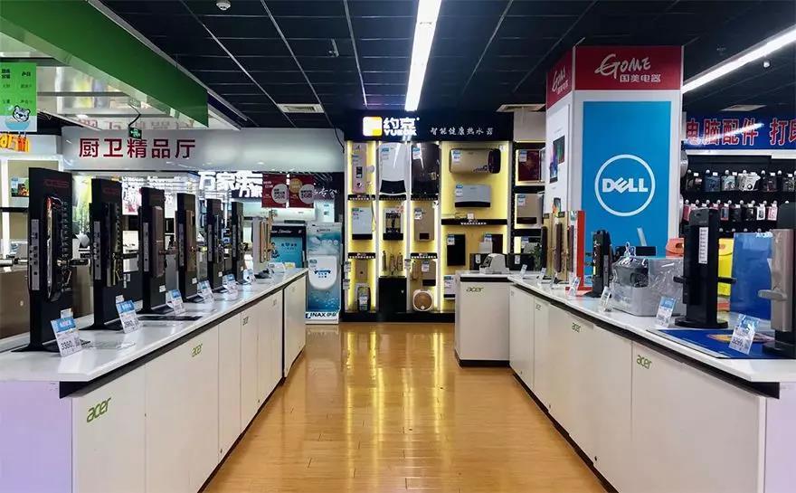 在北京一家国美电器,智能门锁价位基本均高于2000元 图/猎云网