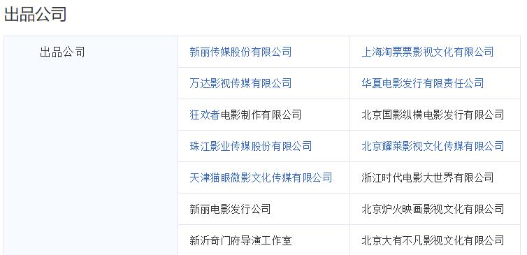 《巴清传》 背后14家出品公司(来源搜狗百科)。