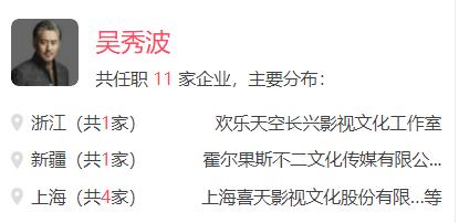 吴秀波共任职11家企业(图片来源企查查)