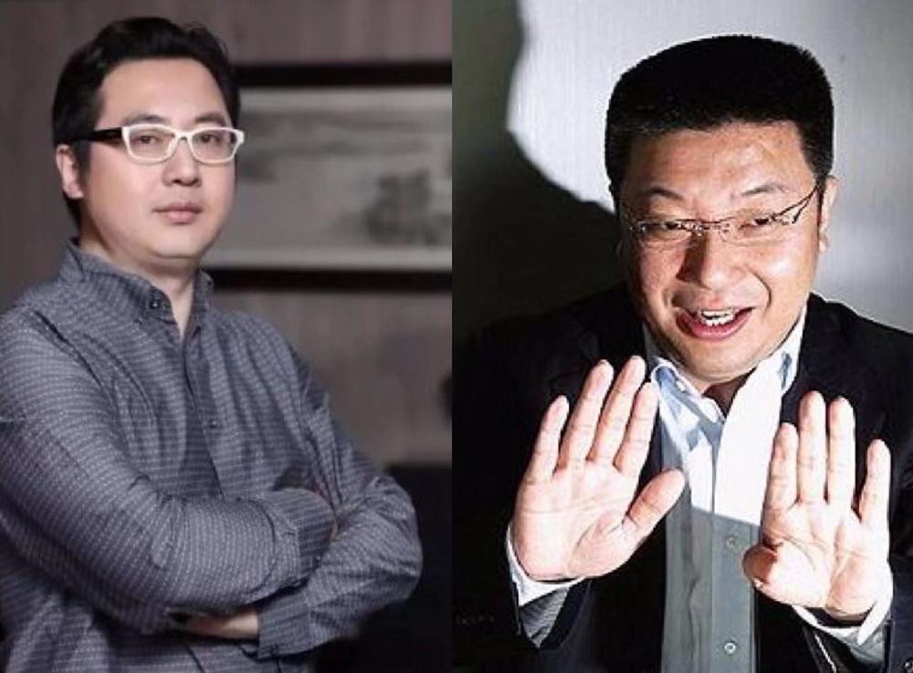 新潮传媒张继学(左)和分众传媒江南春(右)