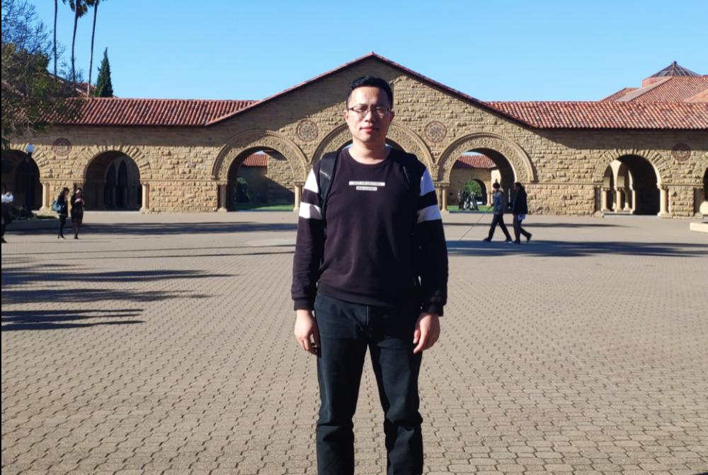 陈哲乾在斯坦福大学访问交流