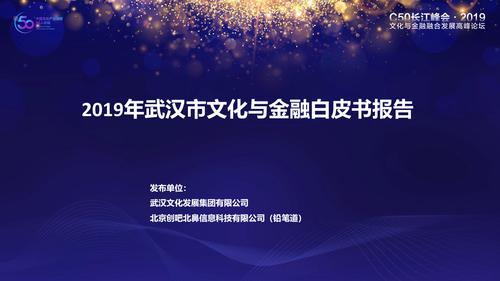 2019武汉市文化与金融白皮书
